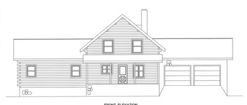 Timberhaven log home design, log home floor plan, 2013, Elevation