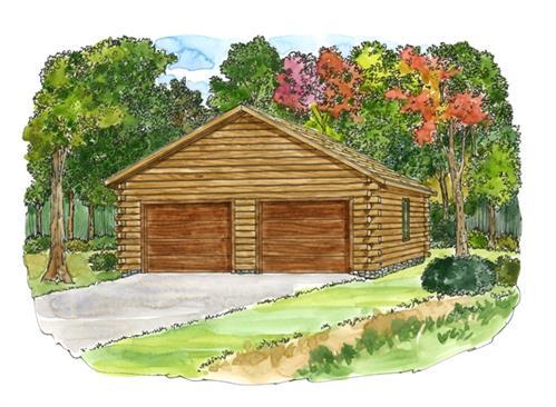 Log home design center 24x26 standard garage details for 24x26 garage plans