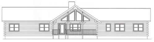 Timberhaven log home design, log home floor plan, 2710, Elevation