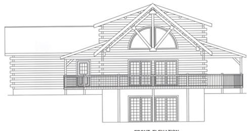 Timberhaven log home design, log home floor plan, 2751, Elevation