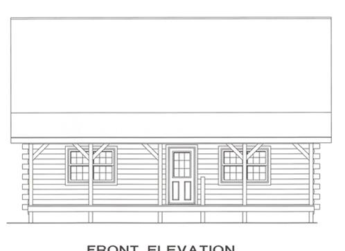 Timberhaven log home design, log home floor plan, 3353, Elevation
