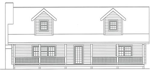 Timberhaven log home design, log home floor plan, 3377, Elevation