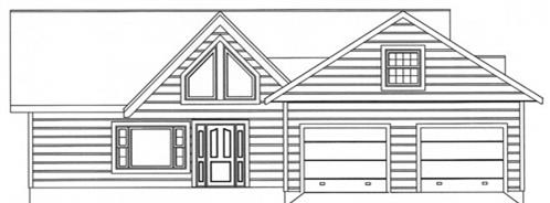 Timberhaven log home design, log home floor plan, 3503, Elevation