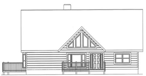 Timberhaven log home design, log home floor plan, 3529, Elevation