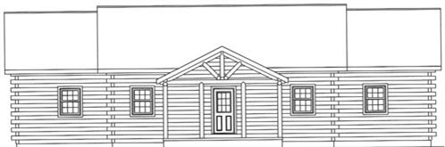 Timberhaven log home design, log home floor plan, 3598, Elevation