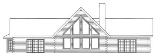 Timberhaven log home design, log home floor plan, 3603, Elevation