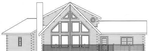 Timberhaven log home design, log home floor plan, 3782, Elevation