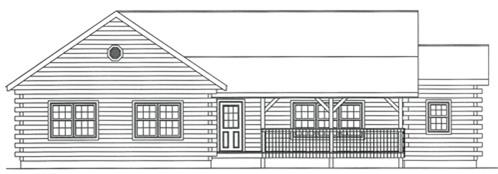 Timberhaven log home design, log home floor plan, 3802, Elevation