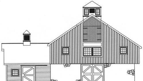 Timberhaven log home design, log home floor plan, 3870, Elevation