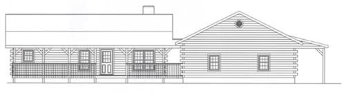 Timberhaven log home design, log home floor plan, 4081, Elevation