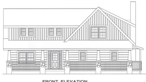 Timberhaven log home design, log home floor plan, 4263, Elevation