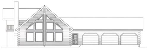 Timberhaven log home design, log home floor plan, 4276, Elevation