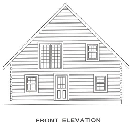 Timberhaven log home design, log home floor plan, 4278, Elevation