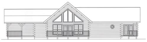 Timberhaven log home design, log home floor plan, 4372, Elevation