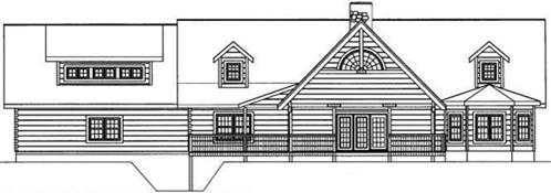 Timberhaven log home design, log home floor plan, 4596, Elevation