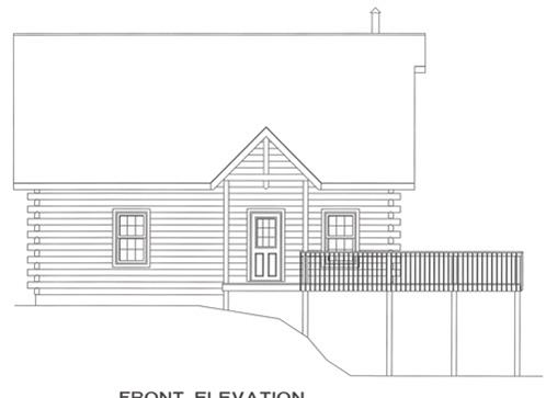 Timberhaven log home design, log home floor plan, 4641, Elevation