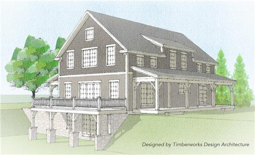 Timberhaven log home design, log home floor plan, Brackney Timber Frame, Elevation
