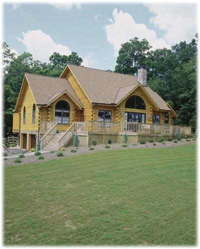 Timberhaven log home design, log home floor plan, Bryan, Elevation