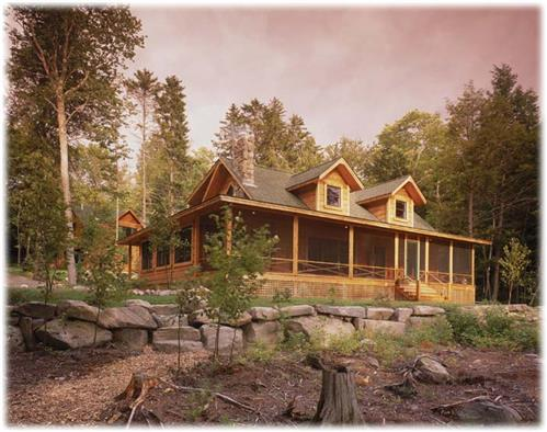 Timberhaven log home design, log home floor plan, Crapser, Elevation