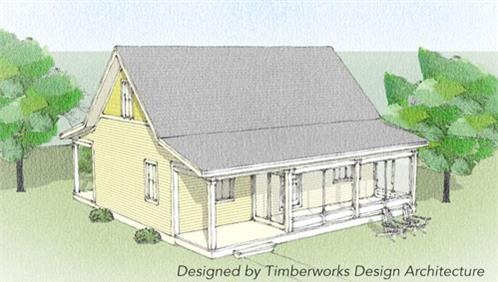 Timberhaven log home design, log home floor plan, Fairfax Timber Frame, Elevation