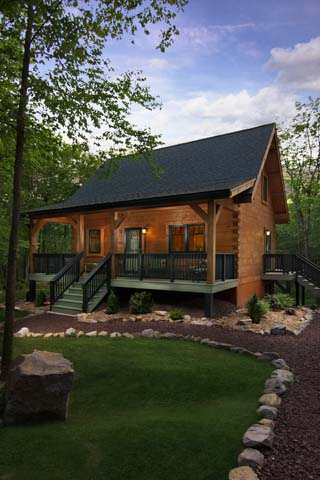 Timberhaven log home design, log home floor plan, Hubbards-Rhodes, Elevation