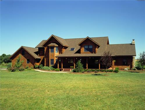 Timberhaven log home design, log home floor plan, Izzo, Elevation