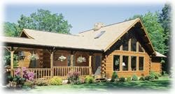 Timberhaven log home design, log home floor plan, Kolva, Elevation