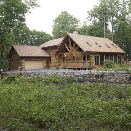 Timberhaven log home design, log home floor plan, Konyha, Elevation