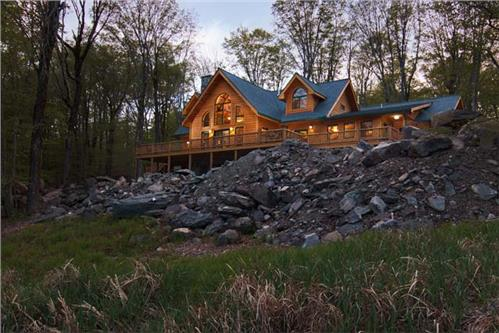 Timberhaven log home design, log home floor plan, Kortze - Log Home Living Feature, Elevation