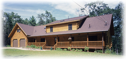 Timberhaven log home design, log home floor plan, Manzi, Elevation