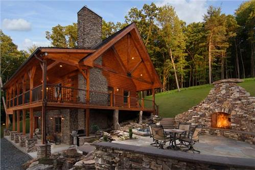 Timberhaven log home design, log home floor plan, Modified Clear Creek - Bierman, Elevation