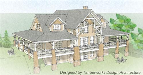 Timberhaven log home design, log home floor plan, Newhaven Timber Frame, Elevation