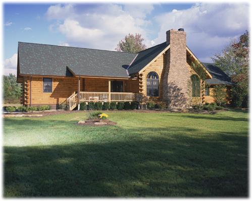 Timberhaven log home design, log home floor plan, Reedy, Elevation