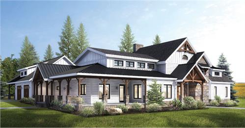 Timberhaven log home design, log home floor plan, Shade Haven Timber Frame, Elevation