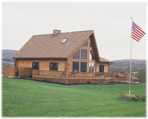Timberhaven log home design, log home floor plan, Smith-Dickinson, Elevation