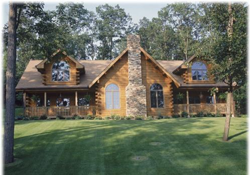 Timberhaven log home design, log home floor plan, Snyder, Elevation
