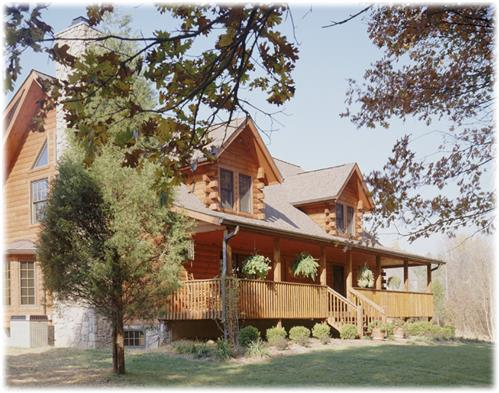 Timberhaven log home design, log home floor plan, Staten, Elevation