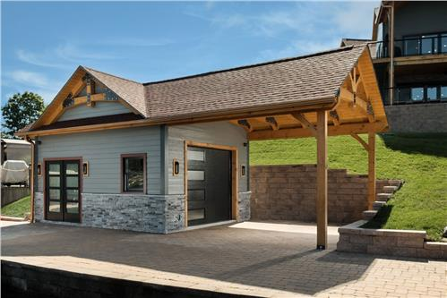 Timberhaven log home design, log home floor plan, Timber Frame Boat House and Pavilion, Elevation