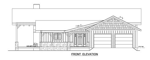 Timberhaven log home design, log home floor plan, Timber Frame Feature Home, Elevation