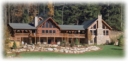 Timberhaven log home design, log home floor plan, Walters Addition, Elevation