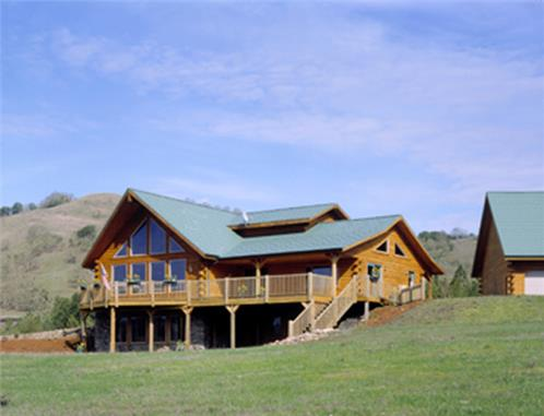 Timberhaven log home design, log home floor plan, Wilson, Elevation