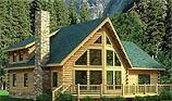 Timberhaven log home design, log home floor plan, Alpine, and Elevation