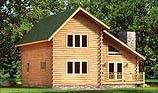 Timberhaven log home design, log home floor plan, Appalachian, and Elevation