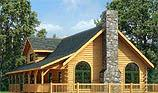 Timberhaven log home design, log home floor plan, Keystone, and Elevation