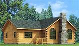 Timberhaven log home design, log home floor plan, Lakeside, and Elevation