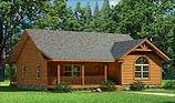 Timberhaven log home design, log home floor plan, Loyalhanna, and Elevation