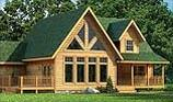Timberhaven log home design, log home floor plan, Shenango, and Elevation