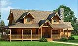 Timberhaven log home design, log home floor plan, Swatara, and Elevation