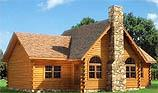 Timberhaven log home design, log home floor plan, Brookside, and Elevation