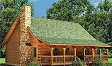 Timberhaven log home design, log home floor plan, Meadow View, and Elevation